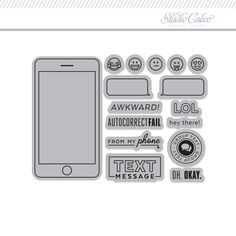 Stamp Set: 4x3 Phone by One Little Bird - Studio Calico