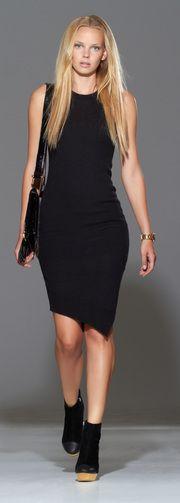 edgy asymmetrical dress.