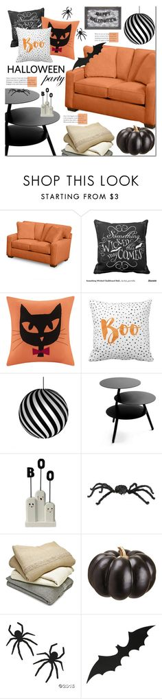 """Halloween Party Decor"" by mada-malureanu ❤ liked on Polyvore featuring interior, interiors, interior design, home, home decor, interior decorating, Madison Park, David Trubridge, Pulpo and Sefte"