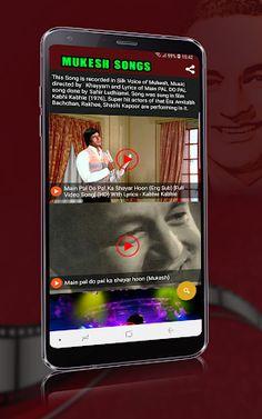 Mukesh Old Songs - Apps on Google Play Hindi Old Songs, All Songs, Love Songs, Lata Mangeshkar Songs, Old Bollywood Songs, Song Notes, Emotional Songs, Kishore Kumar, Hindi Video