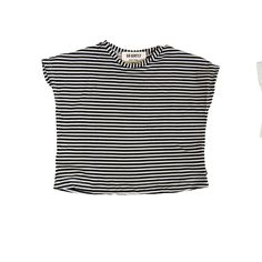 2634582e58c6 Boxy Tee in Natural Blk Stripe by Go Gently nation