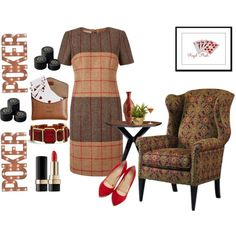 Poker by redont-daworry on Polyvore featuring Hobbs, Charlotte Olympia, Chico's, Dolce&Gabbana, Dot & Bo, Kate Spade, Ceramiche Pugi, Burberry and Remington