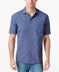 Tommy Bahama Men's Reel Deal Seersucker Shirt - Blue 3XL