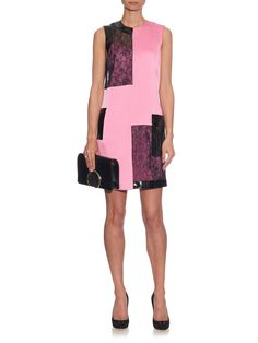 Satin, lace and patent-leather shift dress | Christopher Kane check out my blog :) handlethisstyle.com