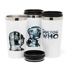 ThinkGeek :: Doctor Who 50th Anniversary Travel Mug Set
