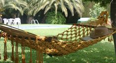 Macrame Hanging Chair, Hanging Baskets, 1200 Sq Ft House, Macrame Patterns, Outdoor Furniture, Outdoor Decor, Hammock, Projects To Try, Paracord