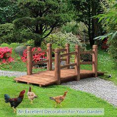 Pond Bridge, Garden Bridge, Fairy Garden Ornaments, Wooden Garden, Cedar Garden, Wooden Bridge Garden, Wooden Path, Wood Walkway, Bamboo Garden