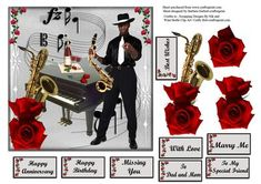 All That Jazz with Red decoupage 2 on Craftsuprint - Add To Basket!