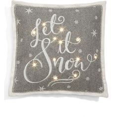 Let it Snow Light Up Cushion M&S ($12) ❤ liked on Polyvore featuring home, home decor and throw pillows