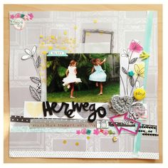 Layout by Gia using the April 2014 Kit - Debutante #scrapbooking #cliquekits #amytangerine #plusone #amytan #americancrafts