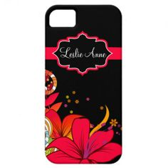 iPhone5 Girly Abstract Tropical Floral Monogram iPhone 5 Cover