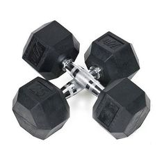 JFit Rubber Coated Hex Dumbbells 25 lb Pair ** More info could be found at the image url.