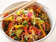 """Lighter Asian Noodle Salad (Lighter 16-Minute Meals) - """"The Pioneer Woman"""", Ree Drummond on the Food Network."""