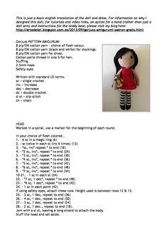 Free amigurumi doll pattern Basis voor flodder haken