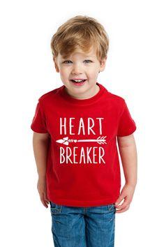 Valentine's Day Shirt for Kids or Toddlers, Heart Breaker Red T-Shirt Boho Arrow Design, Valentine Shirt for Boys or Girls (Item - SHB300)