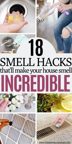 Trying to get the stink out of your house? Here are 18 genius affordable ways to make your house smell amazing with very little effort. Old House Smells, House Smell Good, House Cleaning Tips, Diy Cleaning Products, Cleaning Hacks, Green Cleaning, Cleaning Solutions, Mason Jar Crafts, Mason Jar Diy