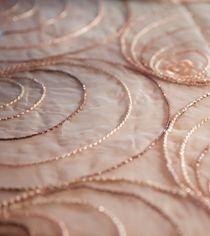 Blush Shimmer Swirl Table Linen Swatch