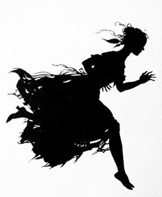 The Mad Dash Home. Silhouette by Arthur Rackham. Arthur Rackham, Kay Nielsen, Kara Walker, Art Japonais, Shadow Puppets, Children's Book Illustration, Book Illustrations, American Artists, Black Art