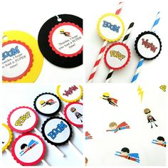 Superhero Party Package on Etsy, $36.00