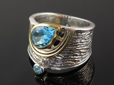 Items similar to Blue topaz sterling silver ring – size on Etsy Silver Pendant Necklace, Sterling Silver Necklaces, Silver Earrings, Gold Rings Jewelry, Metal Jewelry, Silver Jewellery, Diamond Jewelry, Craft Jewelry, Jewellery Shops