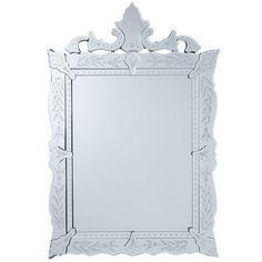 """Wisteria - Mirrors & Wall Decor - Mirrors - Stunning Venetian Mirror  25.5""""w x 1""""d x 37.75""""h $229"""