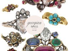 Joyería de la época georgiana es increíblemente raro porque la mayoría de los metales preciosos y piedras fueron reutilizados en los últimos años para dar paso a las tendencias más recientes. Los anillos que sobreviven, sin embargo, son muy interesantes. Ajustes siempre se hicieron para acomodar el diamante o joya, no al revés. Así que no hay dos anillos de compromiso de Georgia son siempre iguales.ring-estilos georgiano-compromiso-