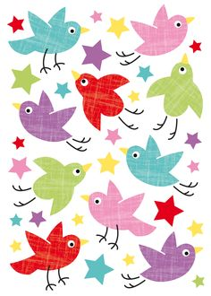 Birds and Stars wall decals - Fifi Mandirac