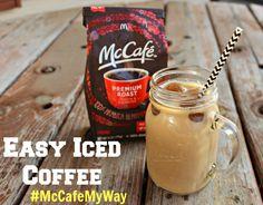 Super Easy Iced Coffee with McCafé Coffee Iced Coffee At Home, Coffee Drinks, Coffee Blog, Mccafe Coffee, How To Make Ice Coffee, Coffee Recipes, Make It Yourself, Mugs, Tableware