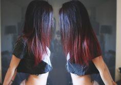 czarne włosy czerwone końcówki - Szukaj w Google