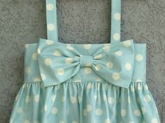 Light Blue Polka Dot baby/toddler Dress Easter by dreamcatcherbaby