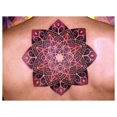 The Spiritual Magic of Mandala Tattoos found on Polyvore