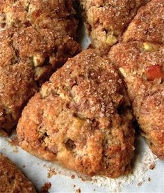 This weekend try these warm apple cinnamon scones. The flaky texture with ripe apples are the perfect start to your breakfast or brunch.