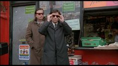 """shihlun: """" Aki Kaurismäki and Jean-Pierre Leaud in I Hired a Contract Killer """" Maid, Canada Goose Jackets, Raincoat, Cinema, Winter Jackets, Actors, Celebrities, People, French"""