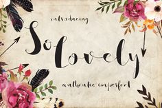 So Lovely Handmade Script- Authentic Imperfect Hand Lettered Font