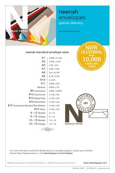Guide to Envelopes & Sizes / Neenah Papers