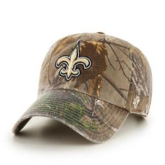 ac93916de7162 New Orleans Saints 47 Brand Camo Realtree Clean Up Adjustable Hat