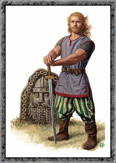 """This depiction shows Forseti who was a Norse G-d of """"Justice and Reconciliation"""". Forseti was also known to the Frisians in what is now The Netherlands as Fosite."""