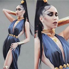 VERSACE  Photo & Make up : @bad_yaz  #versace #gold #bluedress #jewellery #medusa #latina #donatella #satin #hair #blackhair #Babyhair #greece #model #styling #fashion