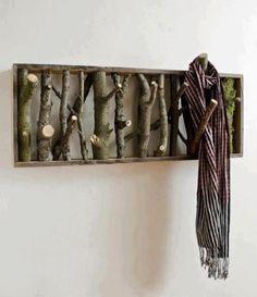 DIY coat/scarf hanger