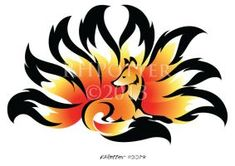 Fireflower Kitsune by RHPotter on deviantART Thigh design Cute Animal Drawings, Cartoon Drawings, Fantasy Creatures, Mythical Creatures, Dungeons And Dragons Classes, Fuchs Tattoo, Fox Drawing, Fox Spirit, Beautiful Dark Art