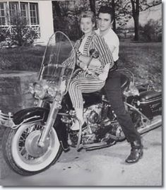 Elvis with his girlfriend at the time Yvonne Lime April 19, 1957. Yvonne was co-star in Loving You in role of Sally