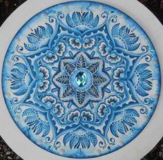 Mandala Azul Hamsa, Mandala Azul, Circle Art, Japanese Porcelain, Mandala Coloring, Dot Painting, Dream Catcher, Art Decor, Art Projects