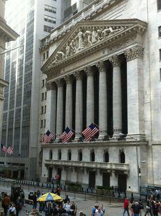 Wall Street in New York, NY
