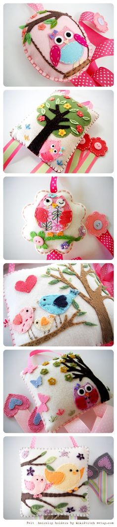 Sooo sweet ~ Cutie sweetie hair clip tidy by MikiStitch ~