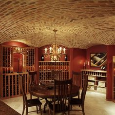 Brick Ceiling Diseño residencial Design Ideas, Pictures, Remodel and Decor