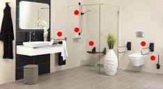 Consejos para baños de personas con movilidad reducida.