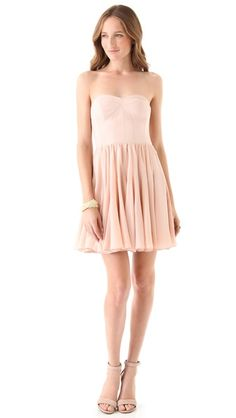 Rebecca Taylor Perfect Fit Strapless Dress in Ballet $425USD    decided on this pinky nude ballet shade instead of the bright magenta, can't wait for it to arrive! ♥