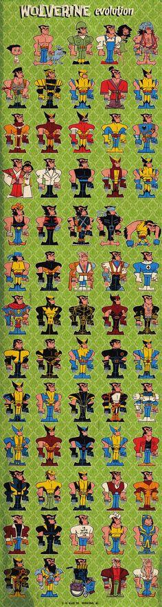@comicheroespics: Wolverine evolution #ComicHeroesPics | Veooz