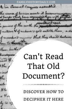 From words no longer used to character formation, cursive style and even sentence structure, it can be very frustrating to the genealogist when deciphering old handwriting on family documents or in official papers. These tips, tricks and resources will make all the difference. Free Genealogy Sites, Genealogy Forms, Genealogy Research, Family Genealogy, Family Tree Search, Alphabet, Genealogy Organization, Sentence Structure, Family Roots