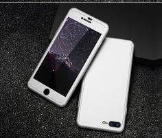 Slim Hard PC Luxury Cover- 360 Degree Full Coverage Bag With Tempered Glass Gift for iphone 6 6S 7 7 Plus